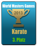 Karate    2013 World Masters Games   3. Platz